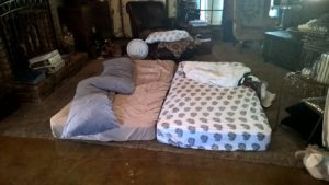 Ryan's sleeping quarters at Camp Roughing It