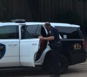 Edgar in police car