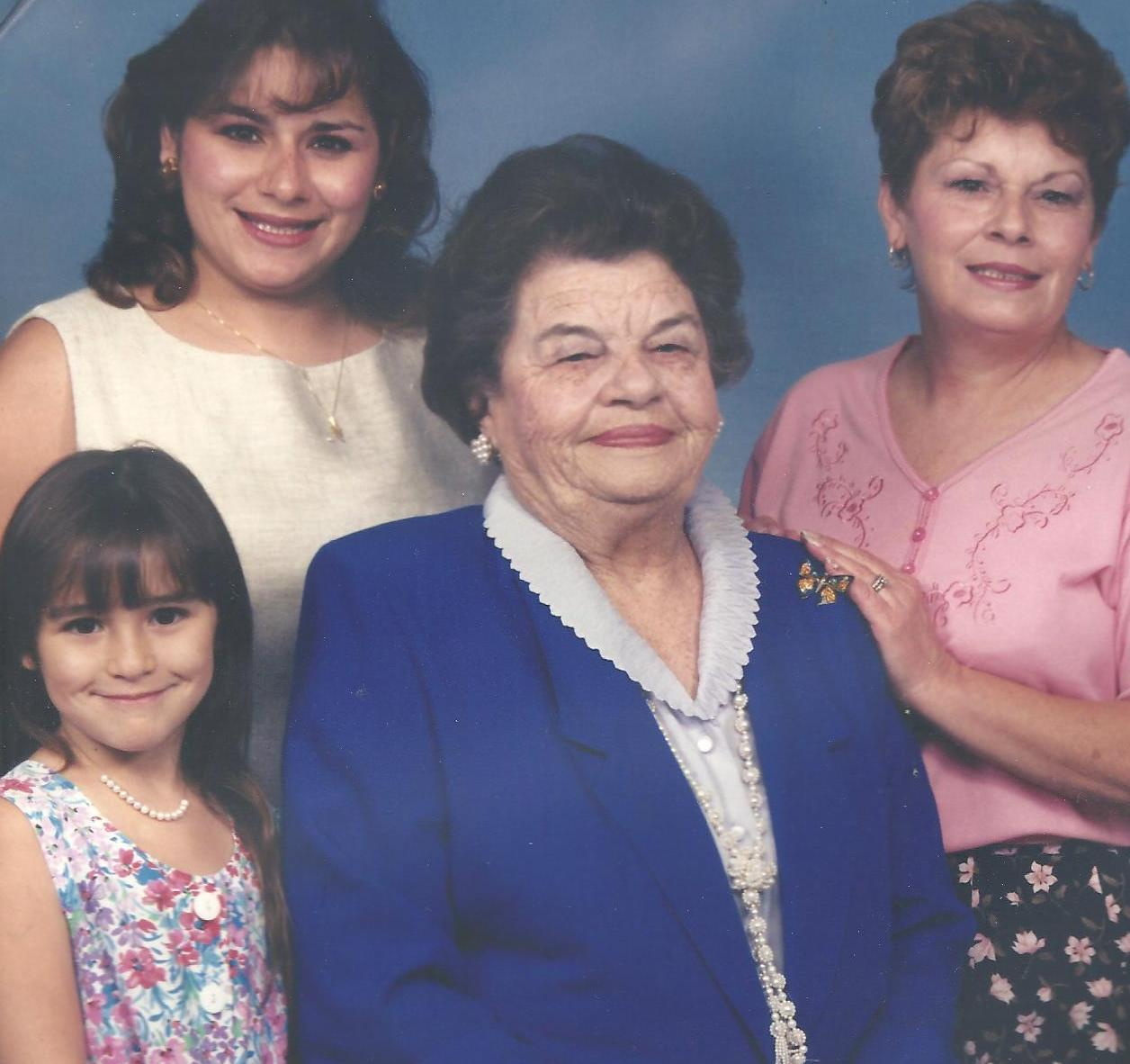 Dorothy, Dorotha, Mona and Lauren: four generations